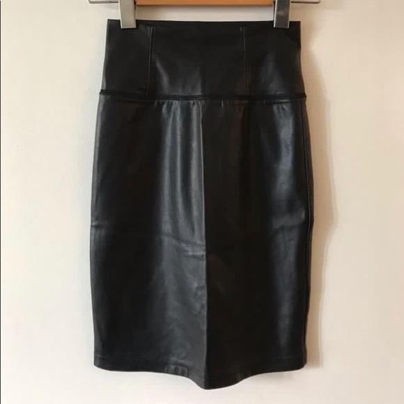 Wilfred Leather High Waist Skirt